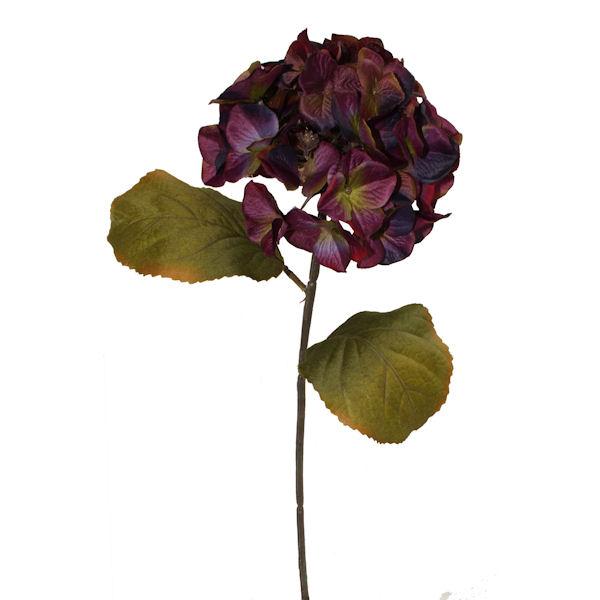 Fleur artificielle hydrang e prune 25 d cors v ronneau for Soldes fleurs artificielles