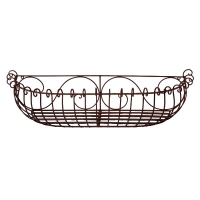 Wall flowerbox made in wrought iron 29x9x7,5''