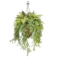 Outdoor grass hanging basket