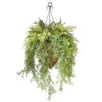 Outdoor grass hanging basket