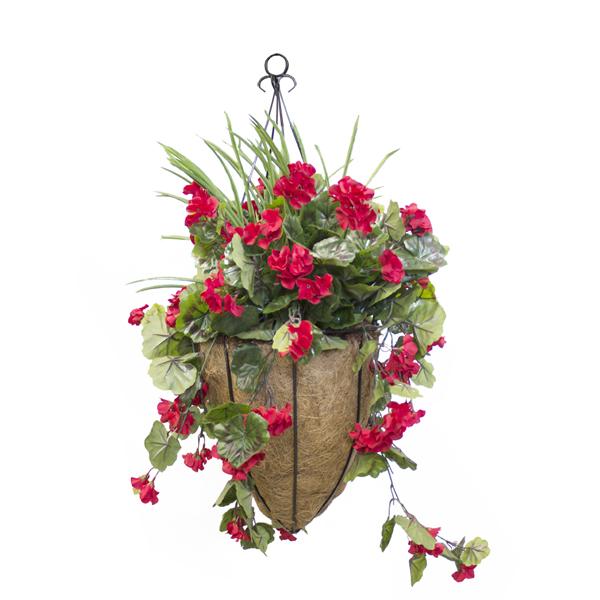 jardini re suspendue g ranium rouge d cors v ronneau. Black Bedroom Furniture Sets. Home Design Ideas