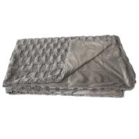 Grey cast faux fur 47x59''