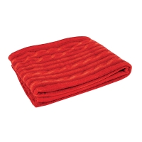 Red Cable-Knit Throw