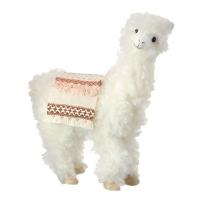 Lama décoratif blanc, 9''