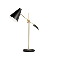 Lampe de table ajustable, bronze
