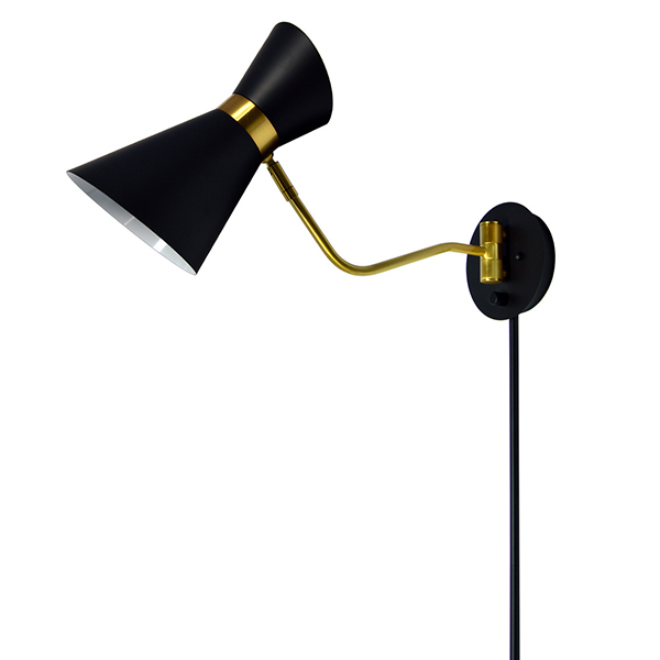 lampe murale vintage bronze d cors v ronneau. Black Bedroom Furniture Sets. Home Design Ideas