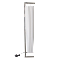 Very modern rectangular floor lamp made with white tissue an
