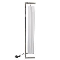 Very modern rectangular floor lamp made with white tissue an