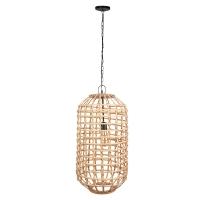 Hanging Wood Light Fixture, 27''