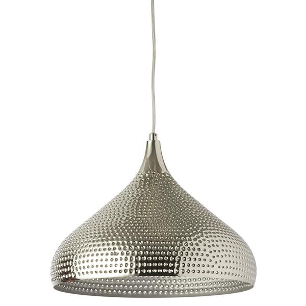 Lampe suspendue fini martel chrome d cors v ronneau for Lampe suspendue