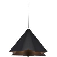 Lampe suspendue, noir mat