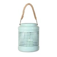 Aqua metal lantern