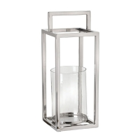 15,5'' Stainless steel and glass lantern