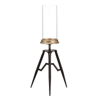 Glass Candleholder on Tripod, 22.5''