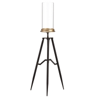 Glass Candleholder on Tripod, 30,75''