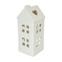Lanterne maison blanche, 13 X 6 X 6''