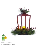 Pine and berry lantern, 18''
