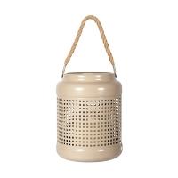 Taupe metal lantern