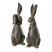 Polystone Long Ear Rabbit with, 14,5'', Unit price
