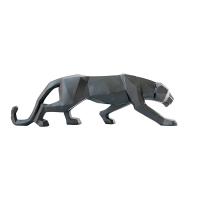 Léopard en résine noire