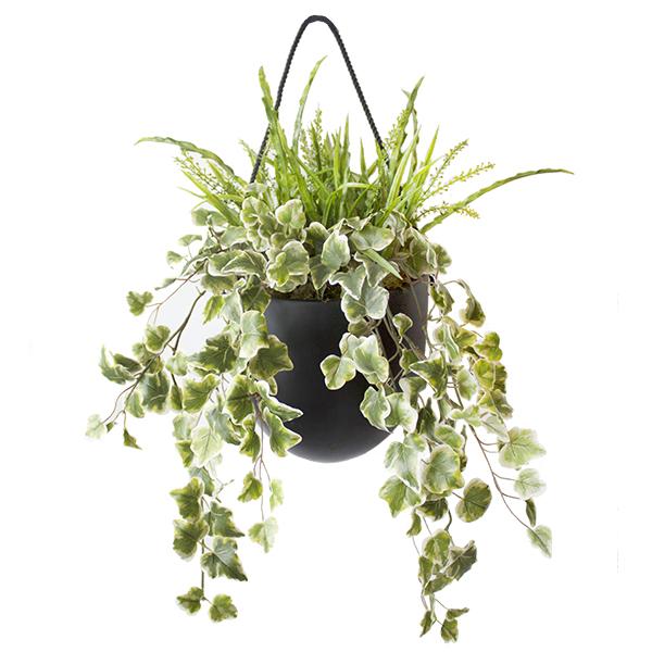 lierre et verdure dans pot mural 17 x 28 39 39 d cors v ronneau. Black Bedroom Furniture Sets. Home Design Ideas