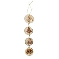 9'' wood disc teardrop ornament