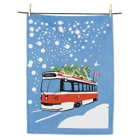 Holiday Bus Tea Towel