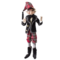 Red and green posable elf 20''