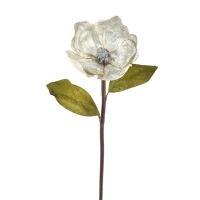 Magnolia argent avec contour brillant sur tige 27''