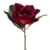 Fleur artificielle Magnolia rouge vin 28