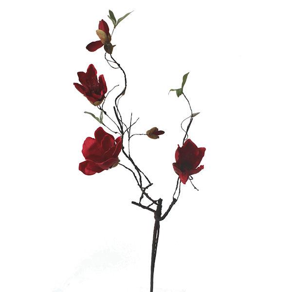 Fleur artificielle magnolia rouge 41 d cors v ronneau for Soldes fleurs artificielles