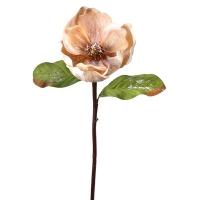 Beige frosted magnolia stem, 26''