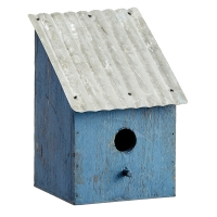 Blue Birdhouse, 9.5''