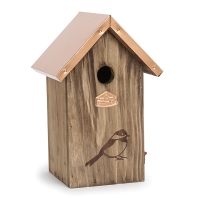 10'' Copper roof bird house