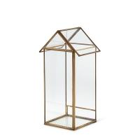 Maison en verre et métal doré 12''