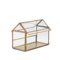 Maison en verre et métal doré 5,75''