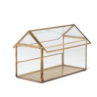 Maison en verre et métal doré 6,5''