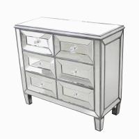 Meuble commode 6 tiroirs en miroir 32,7x36,2x15''7
