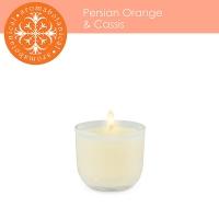 Mini chandelle orange et cassis 2''