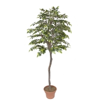 Arbre artificiel, mini ficus boule 7', vert et lime