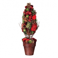 Pine cone and berry cone topiary 19''