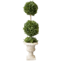 Mini myrtle double ball in urn 26''