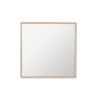 Copper edge wall mirror, 12 x 12''