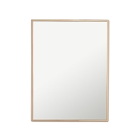 Copper edge wall mirror, 12 x 24''