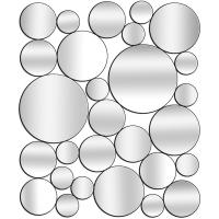 Miroir cercles collés 30x35''