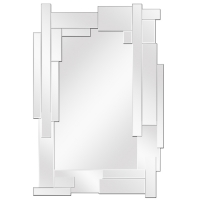 Mirror with rectangular pattern edge 40,5x27,5''