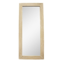 Mirror, natural wood, 28 x 1 x 63''