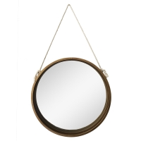 Metal wall mirror, 20 x 2 x 20.5''