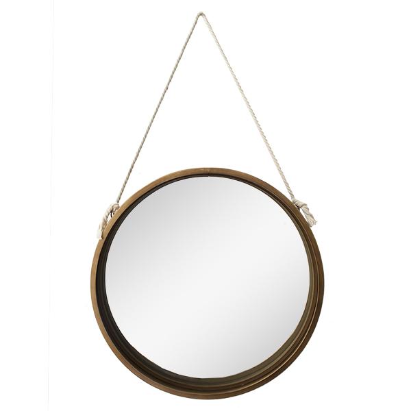 miroir en m tal suspendu par une corde 20 x 2 x 20 5