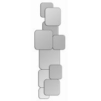 Miroir motif carrés arrondis superposés 38x12''